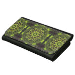 Green Marble Fractal Art Leather Wallets