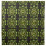 Green Marble Fractal Art Napkins