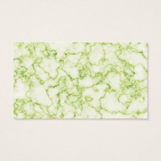 Green Marble Pattern Business Card