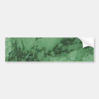 Green Marble Pattern Car Bumper Sticker