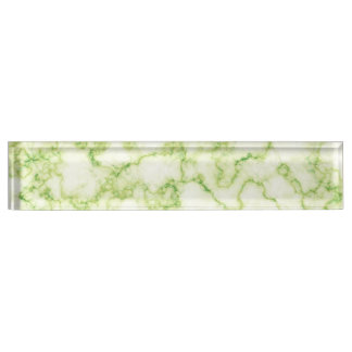 Green Marble Pattern Desk Name Plate