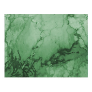 Green Marble Pattern Postcard