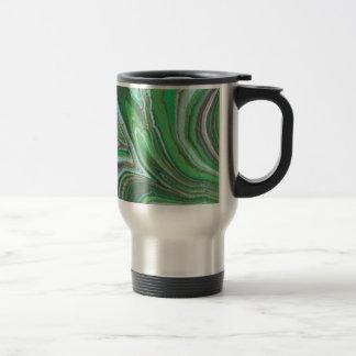 """""""Green Marble Pattern"""" Travel Mug"""
