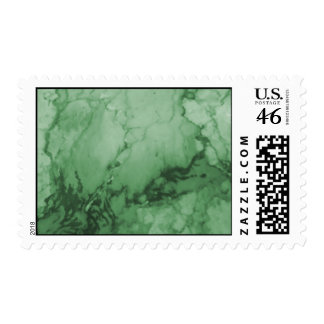 Green Marble Postage Stamps