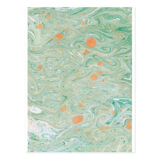Green Marble Postcard