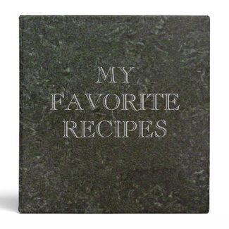 Green Marble Recipes Binder