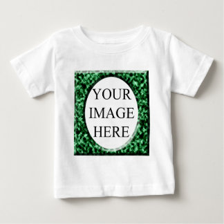 Green marble square frame template baby T-Shirt