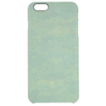 Green Marble Stone Clear iPhone 6 Plus Case