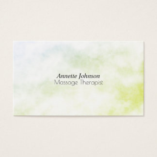Green marble stone faux texture look business card