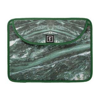 Green Marble Stone Texture Rickshaw Macbook Sleeve