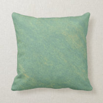 Green Marble Stone Throw Pillow