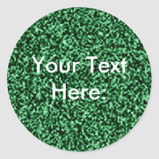 green marble template classic round sticker