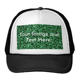 green marble template trucker hat