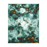 Green Marble Texture With Veins Canvas Print