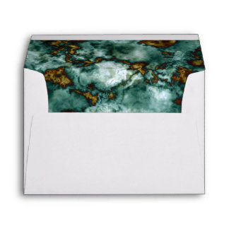 Green Marble Texture With Veins Envelope