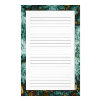 Green Marble Texture With Veins Stationery