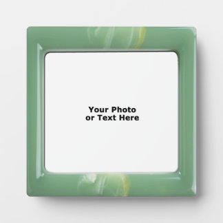 Green Marbled Lucite 5x5 frame Photo Plaque