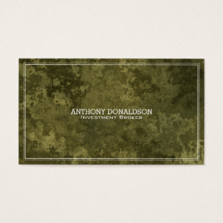 Green Marbled Stone Background Business Card