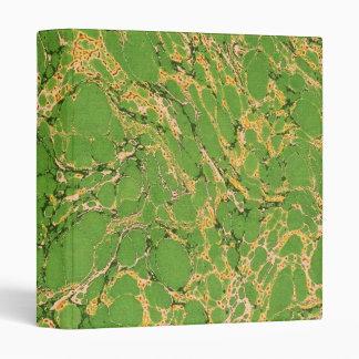 Green Marbleized Vinyl Binder