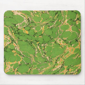 Green Marbleized Mouse Pad