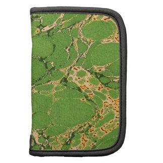 Green Marbleized Planner