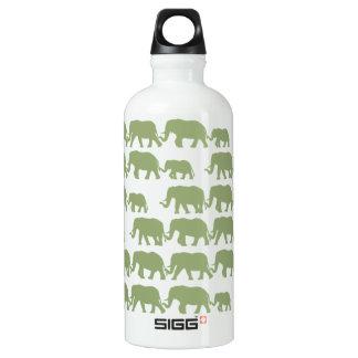 Green Marching Elephant Family SIGG Traveler 0.6L Water Bottle