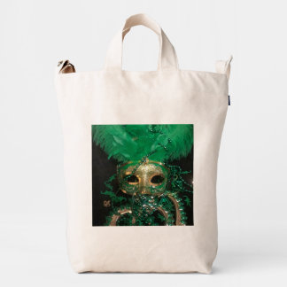 GREEN MARDI GRAS TOTE DUCK BAG
