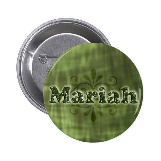 Green Mariah Pinback Button