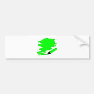 Green Marker Copy Space Bumper Sticker