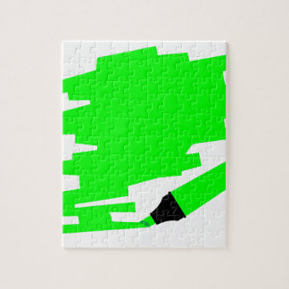 Green Marker Copy Space Jigsaw Puzzle