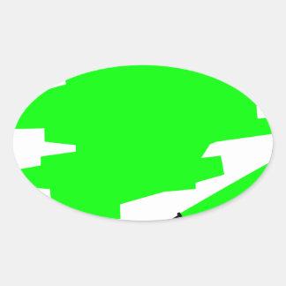 Green Marker Copy Space Oval Sticker