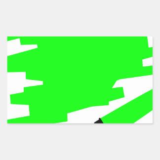 Green Marker Copy Space Rectangular Sticker