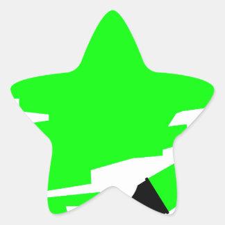 Green Marker Copy Space Star Sticker