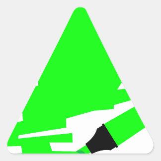 Green Marker Copy Space Triangle Sticker