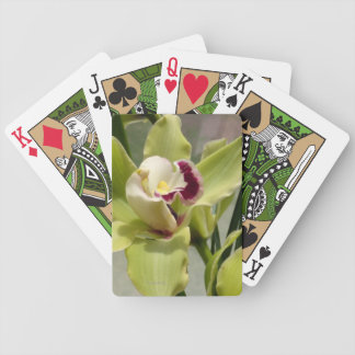 Green Maroon Orchid Bicycle Playing Cards