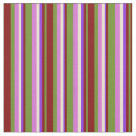 [ Thumbnail: Green, Maroon, Purple, Beige, and Orchid Colored Fabric ]