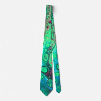 Green marsh neck tie