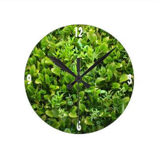 Green Marshlands Round Clock