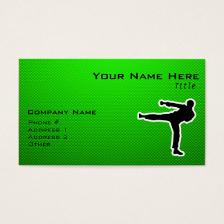 Green Martial Arts Business Card