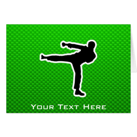 Green Martial Arts Card