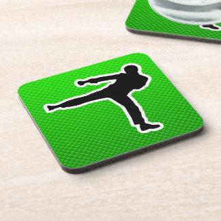 Green Martial Arts Coaster