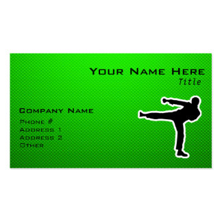 Green Martial Arts Double-Sided Standard Business Cards (Pack Of 100)