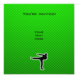 Green Martial Arts Custom Invite