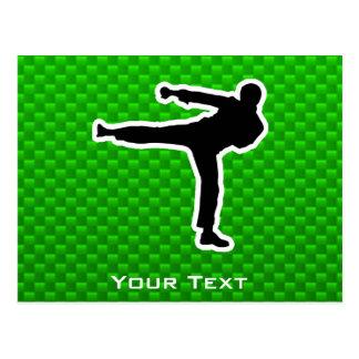 Green Martial Arts Post Cards