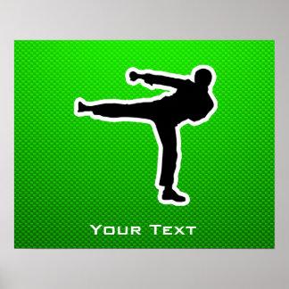 Green Martial Arts Poster