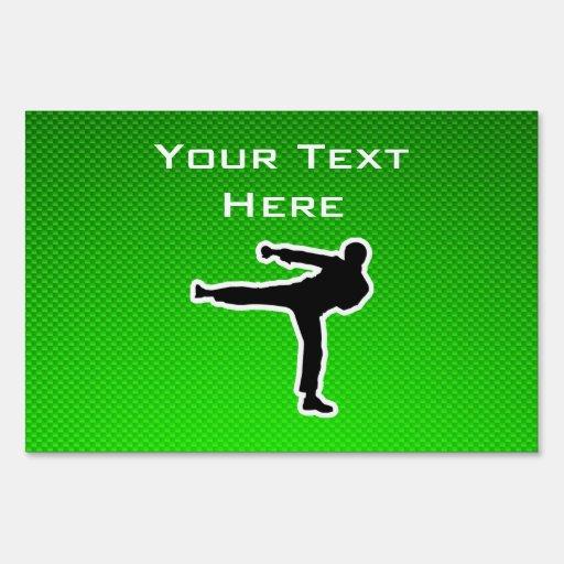 Green Martial Arts Sign