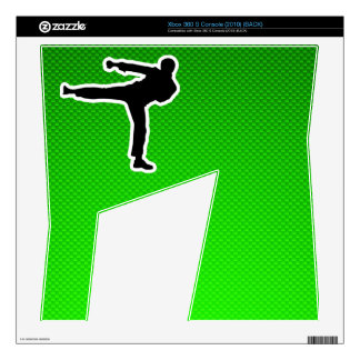 Green Martial Arts Skin For Xbox 360 S
