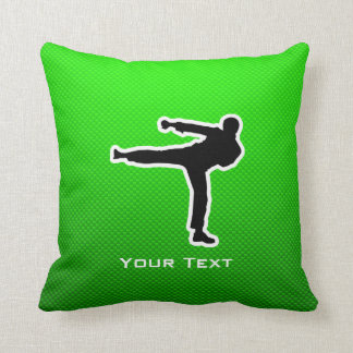 Green Martial Arts Throw Pillow