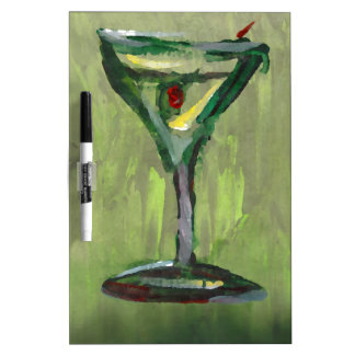 green martini abstract kitchen cocktail bar art Dry-Erase boards