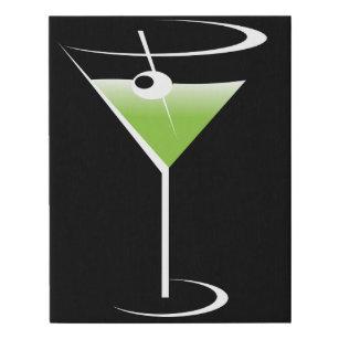 Martini With Green Olive Art Wall Decor Zazzle